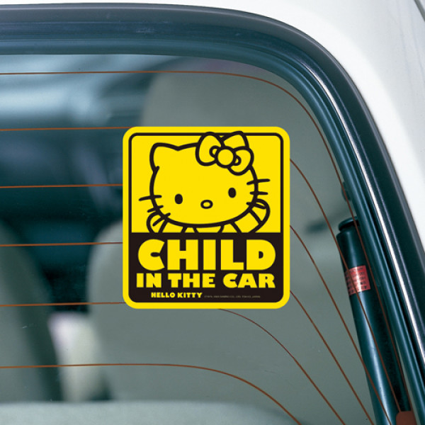 Hello Kitty Child In The Car sticker