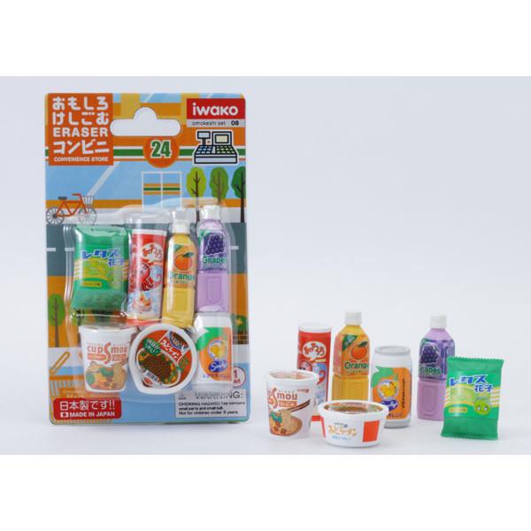 Iwako Erasers - Convenience store set